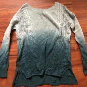 American Eagle Green Ombre sweater